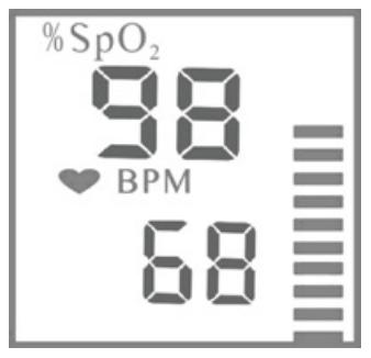 Healthsmart 40-810-000 Pulse Oximeter Measuring Screen