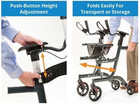 The UPWalker Lite upright walker